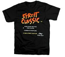 Street Classic Street Fighter Design Mens Black Tee Graphic Streetwear T-Shirt
