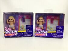 Barbie Skipper Doll Blonde and Sandy Baby Babysitters Inc Mattel Lot of 2 Sealed