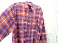Grabherr checked brushed cotton shirt flannel long sleeve lumberjack brown XL