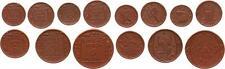 Probensatz 10 Pfennig - 5 Mark 1920 Versuch die Porzellanwährung einzuführen