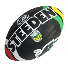 42511 PENRITH PANTHERS NRL LOGO FULL SIZE 5 LARGE FOOTBALL FOOT BALL FOOTY
