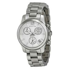 Michael Kors Ladies Runway Chronograph Silver Watch MK5428