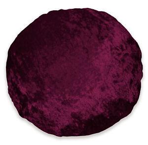 mv31n Wine Red Shimmer Diamond Crushed Velvet Round Cushion COVER/PILLOW CASE