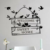 Art English Sticker Bedroom Background Room Kids Wall Welcome Furniture Mural BB