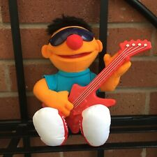 """Ernie Sesame Street 12"""" Plush Rock And Roll With Guitar Stuffed Toy, Hasbro 2010"""