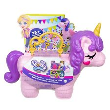 Polly Pocket Unicorn Party Large Compact Playset with Micro Polly & Lila Dolls,