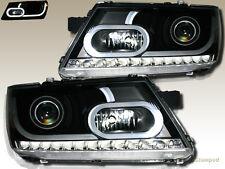 2009-2015 Dodge Journey w / LED Strip Plank Style Projector Headlights Black