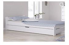 Doppelbett Einzelbett 100x200 weiß bettkasten schublade weiss jugendbett senior