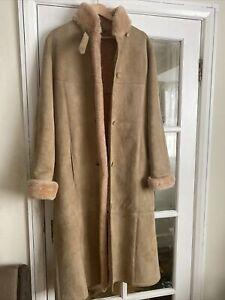 Baileys of Glastonbury Ladies Full Length Sheepskin Coat Size 12