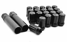 Black Tuner Racing Lug Nuts for Aftermarket Wheels M12x1.5 6 Spline