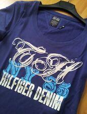 TOMMY HILFIGER DENIM T-Shirt Damen Violett Purple Gr. S
