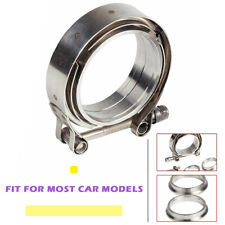 "2.5"" V-Band Flange & Clamp Kit Stainless Steel 1pcs For Turbo Exhaust Downpipes"