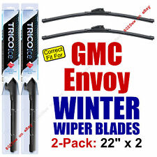 WINTER Wiper Blades 2-Pack Super-Premium - fit 2002-2009 GMC Envoy - 35220x2