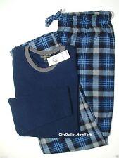 CLUB ROOM Sleepwear Men's Sz M Fleece Pajama Set Long-Sleeve Long Pants NEW $70