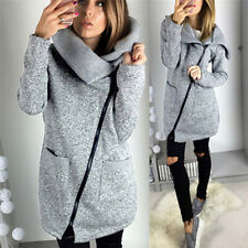 Women Lady Winter Warm Casual Hoodies Jacket Coat Long Zipper Sweatshirt Outwear