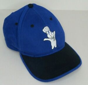 Pillsbury Doughboy Ball Cap~One-Size Snapback~Blue and Black with Logos~1999