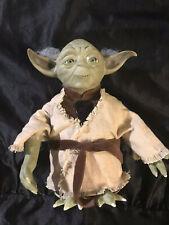 "Rare Vintage 2000 Star Wars Tiger Electronic 8"" Ask Yoda Interactive Talking Toy"