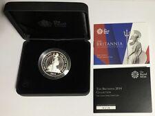 * 2014 UK Britannia Silver Proof 1 oz ~ #778 of #2500 w/ Box & COA ~ RARE!*