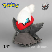 New Big PK Darkrai Plush Doll Soft Stuffed Animal Doll Teddy 14'' Kids Gift