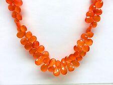 Karneol facett. Tropfen Kette 44-49 cm 925 Silber Cornelian necklace K4847