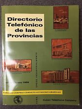 CUBAN TELEPHONE BOOK 1959 DIRECTORY