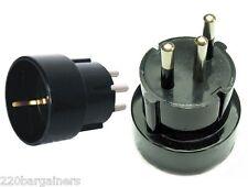 Plug Adapter European Schuko Plug to Switzerland Style 3 Prong