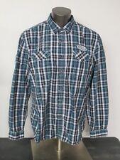 7b5efcd426 Para Hombre Marc Ecko Cut   Sew a Cuadros Mangas Largas Camisa Tamaño Xl  Parches de botón frontal
