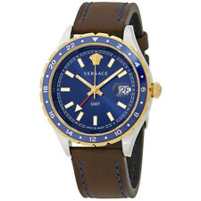 Versace Hellenyium GMT Blue Dial Mens Watch V11080017