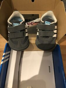 ADIDAS Baby Soft Shoes In Box VGC Size UK 1K
