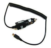 KFZ Auto Ladekabel Lader Micro USB für Handy Smartphone Navi Tablet Kamera black
