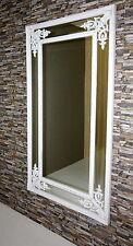Barock Modern Wandspiegel mit Holzrahmen Antik-Gold-Weiss 167x92 cm  NEU!