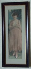 PERFECT 1921 MARGUARITE CLARK POMPEIAN ADVERTISING PRINT FRAMED IT'S MINT PRETTY