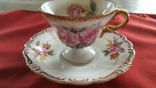 Vintage Merit Occupied Japan Teacup and Saucer Handpainted China
