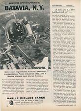1959 Marine Midland Banks Ad Batavia New York Business Opportunities NY
