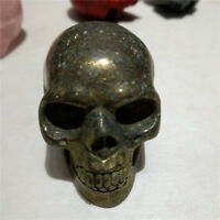 Natural Chalcopyrite Crystal  Skull Crystal Healing Display