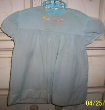 Vintage Sheer Dress Homemade Hand Embroidery  & Sheer Yellow Shirt  Sz 18 Mo??