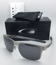 New Oakley Sunglasses HOLBROOK METAL OO4123-03 Satin Chrome w/Black Iridium Lens