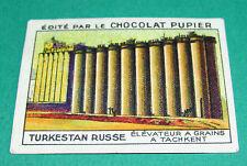 CHROMO TURKESTAN RUSSE N°202 CHOCOLAT PUPIER ASIE 1936 ELEVATEUR GRAINS TACHKENT