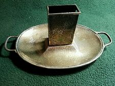 ANTIQUE STERLING ASHTRAY MATCHBOX HOLDER, HARDY & HAYES 1792H