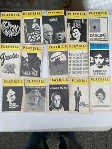 PLAYBILL lot of 15 Some Broadway+ Others Vintage 70s Clean