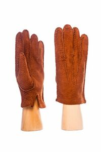 Parisi Gloves - Men- Peccary Leather F100 - Cashmere Lined - HANDSCHUHE - Gants