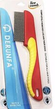 Derunfa Metal Nit Hair Comb with Handle Remove Head Lice And Eggs Effectively