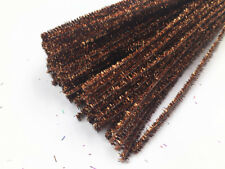 10-100PCS brown Glitter Chenille Stems Pipe Sticks Cleaners For DIY Crafts