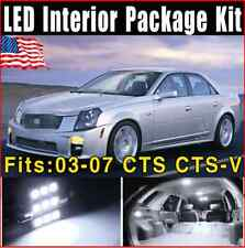 16X Xenon White 2003-2007 For Cadillac CTS CTS-V LED Lights Interior Package Kit