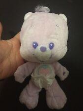 "8"" CARE BEARS BABY CUB SHARE BEAR PURPLE STUFFED ANIMAL PLUSH TOY HEART Diaper"