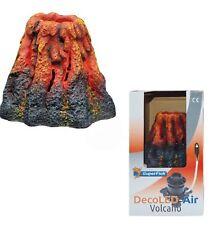 Superfish DECO DEL Volcano Aquarium Ornement Bubbles & Light Built-In Air Pump