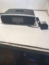 Ihome Am/fm Alarm Clock Radio W/ipod Dock Preowned