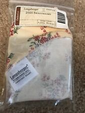 Longaberger 2005 Sweetheart Basket Liner In Floral Bouquet New in Bag #20037118