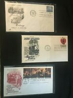 3 US First Day Of Issue envelopes with stamps and postmark 1956,1966,1976