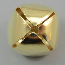 50PCS Christmas Bells Pendants Charms Gold Jingle Loose Cross Bells Beads 25mm